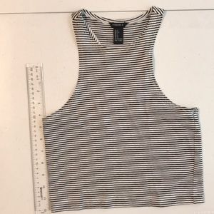 Forever 21 Tops - Forever 21 Striped Cropped Racerback Tee Sz. S